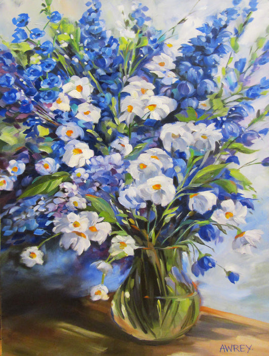 Blue Bouquet Oil Painting