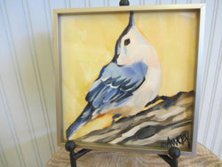White Breasted Nuthatch Framed Giclee