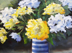 Blues and Yellows Oil Painting