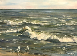 Breaking Waves Oil Painting