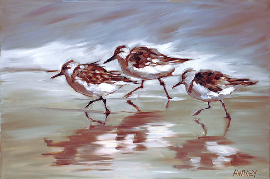 Busy Busy Birds Oil Painting