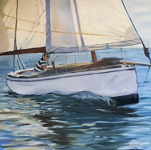 Day Sailor Oil Painting