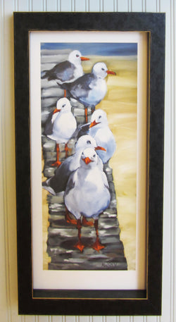 Follow The Leader Framed Giclee Black
