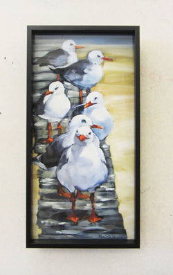 Follow the Leader Mini Giclee Framed