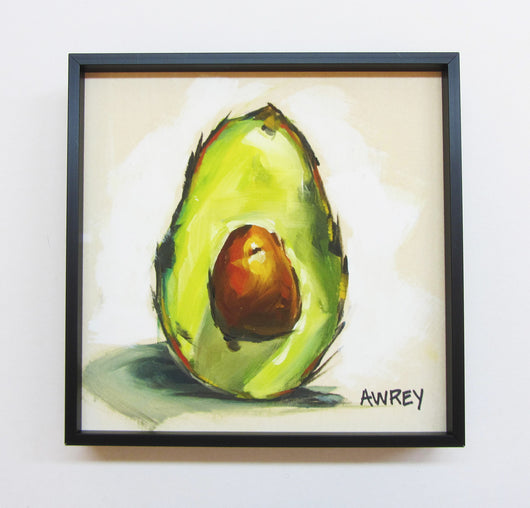 Fruits On Wood Sliced Avocado Framed Giclee