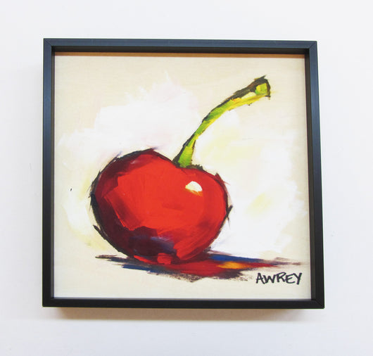 Fruits On Wood Red Cherry Framed Giclee