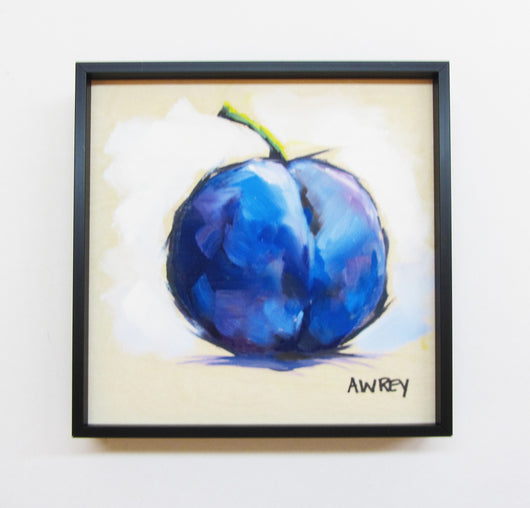 Fruits On Wood Purple Plum Framed Giclee