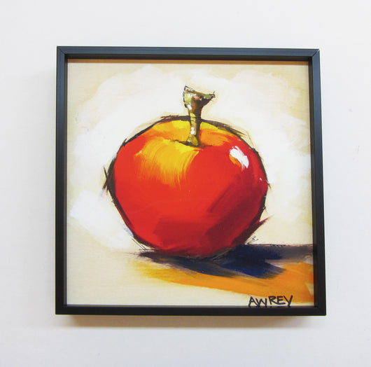 Fruits On Wood Red Apple Framed Giclee