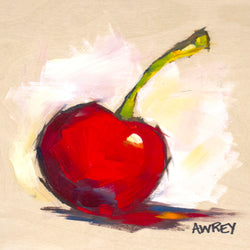 Fruits On Wood Red Cherry Oil Painting