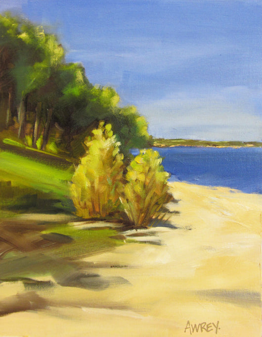 Geneva Shoreline Oil Painting
