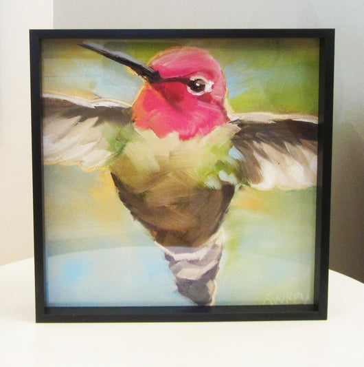 Humming Green Framed Giclee