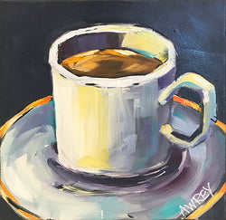 Just One Cup Oil Painting