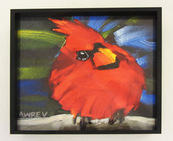 'Lil Funky' Red Cardinal Framed Giclee