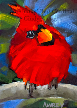 'Lil Funky' Red Cardinal Giclee