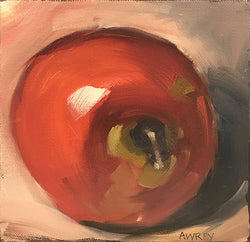 Mini Apple Oil Painting