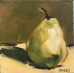 Mini Pear Oil Painting