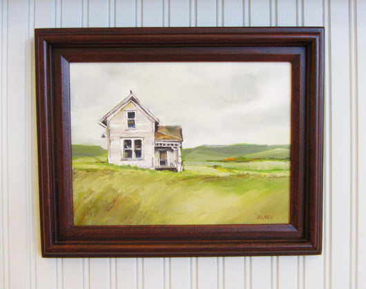 Old Farm House Framed Oil Painting