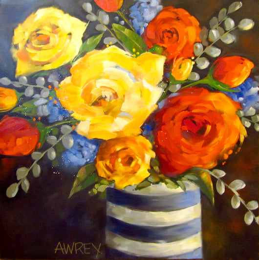 Primary Petals Oil Painting