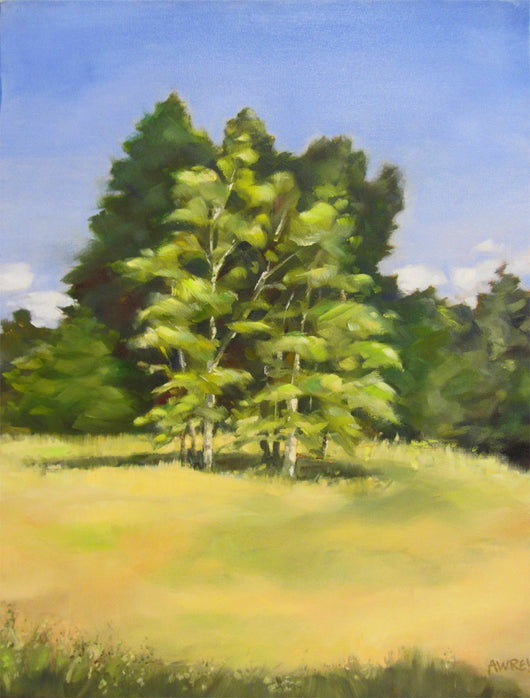 Quiet Meadow Oil Painting