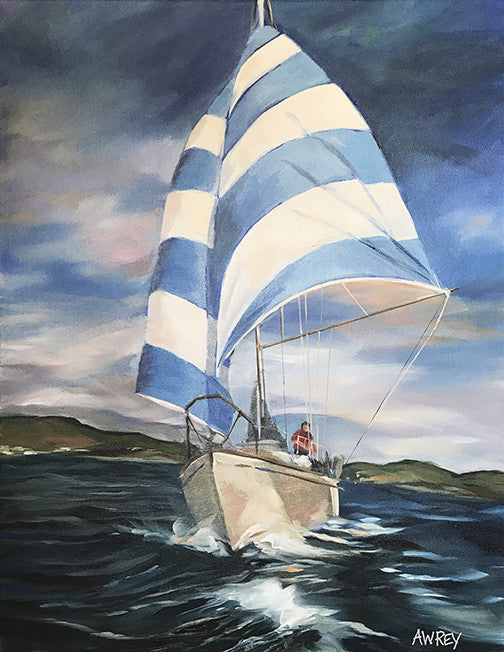 Sailin' The Blues Oil Painting