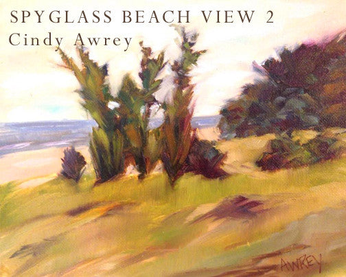 Spyglass Beach View 2 Oil Painting