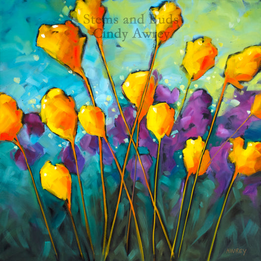 Stems and Buds Giclee