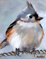 Tufted Titmouse on Rope Giclee
