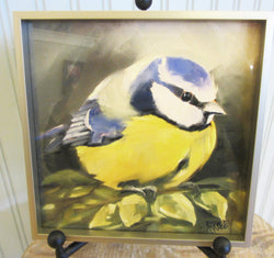 Blue Titmouse Giclee Framed