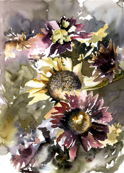 Autumn Sunflowers II Giclee