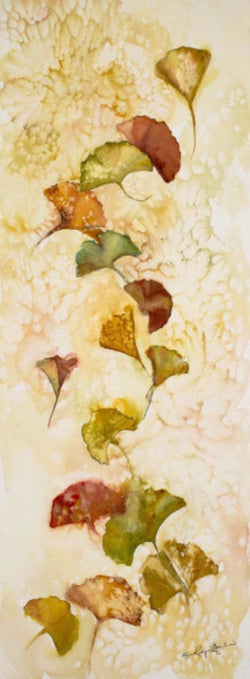 Afternoon Gingko Leaves Mini Canvas Giclee Framed