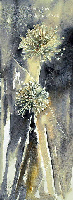 Allium Duet Watercolor Painting