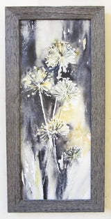 Allium Quintet Framed Giclee on Canvas