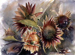 Autumn Sunflowers I Giclee
