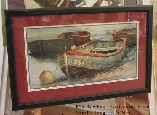 BS6 Rowing Boats I Framed Giclee