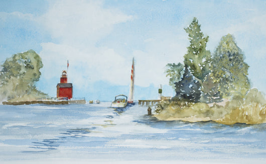 Following Friends Out Holland Channel Giclee