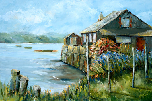 Conwy River Boat House Giclee