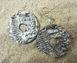 Pewter Disk Earrings