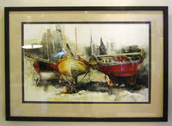 Dry Docked At Gibson's II Giclee Framed 'New Nautical'