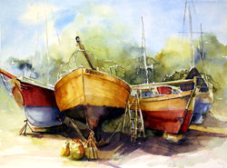 Dry Docked At Gibson's I Giclee