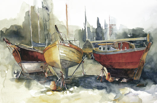 Dry Docked At Gibson's II Giclee