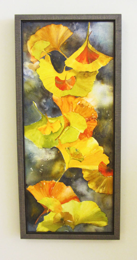 Evening Gingko Leaves Giclee on Canvas Framed