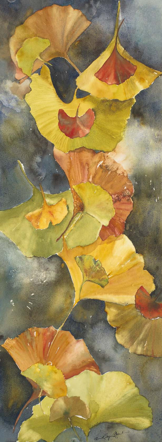 Evening Ginkgo Leaves Giclee