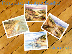 Fresh Lake Michigan Beaches Notecards