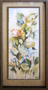Hydrangeas and Leaves III Giclee Framed 'Classic Float'