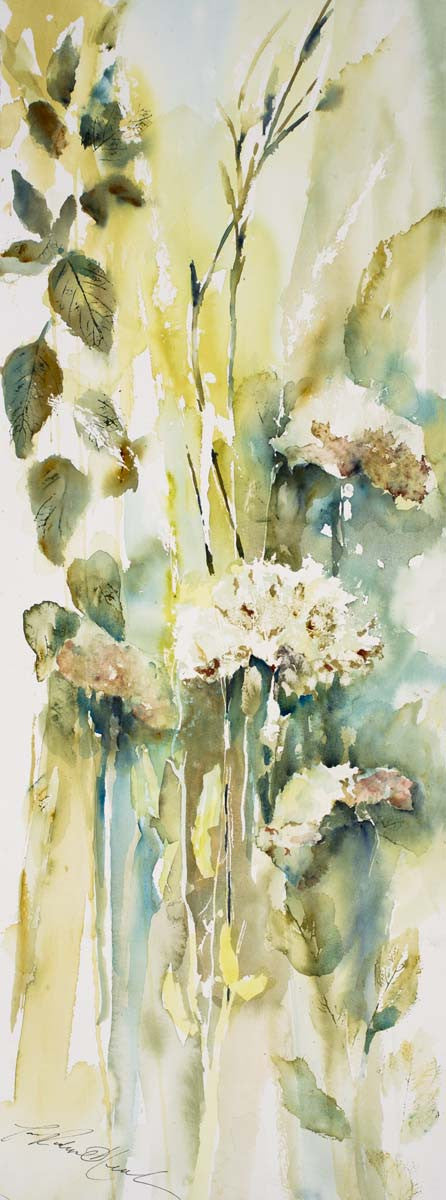 Hydrangeas And Leaves II Giclee