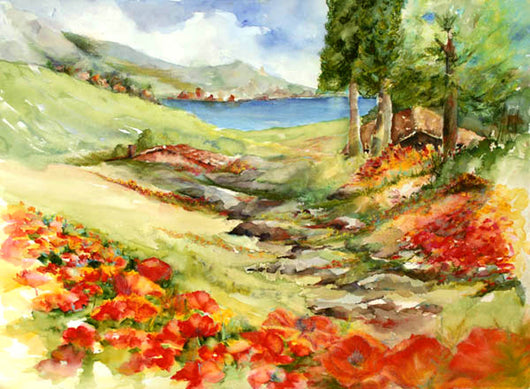 Italian Lake Region Giclee