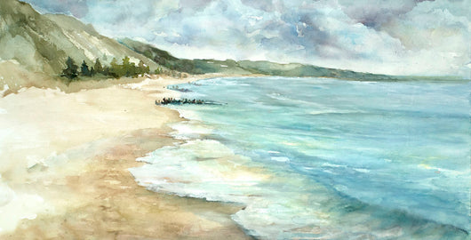 Lake Town Surf Reflections Panoramic Giclee