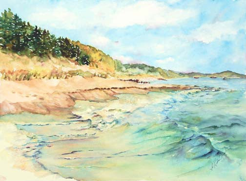 Lake Town Surf I Giclee