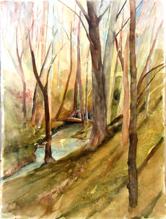Ravine Original Watercolor Painting