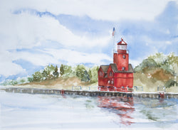 Reflected Big Red Giclee